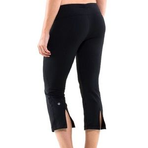 Lululemon Black Cropped Slit Back Pants